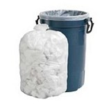 56 Gallon White Trash Bags 43x47 0.7 Mil 100 Bags