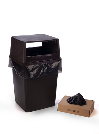 56 Gallon VALUE Black Trash Bags 43x47 2 Mil 100 Bags