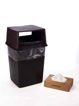 55-60 Gallon VALUE Clear Trash Bags 38x60 16 Micron 200 Bags