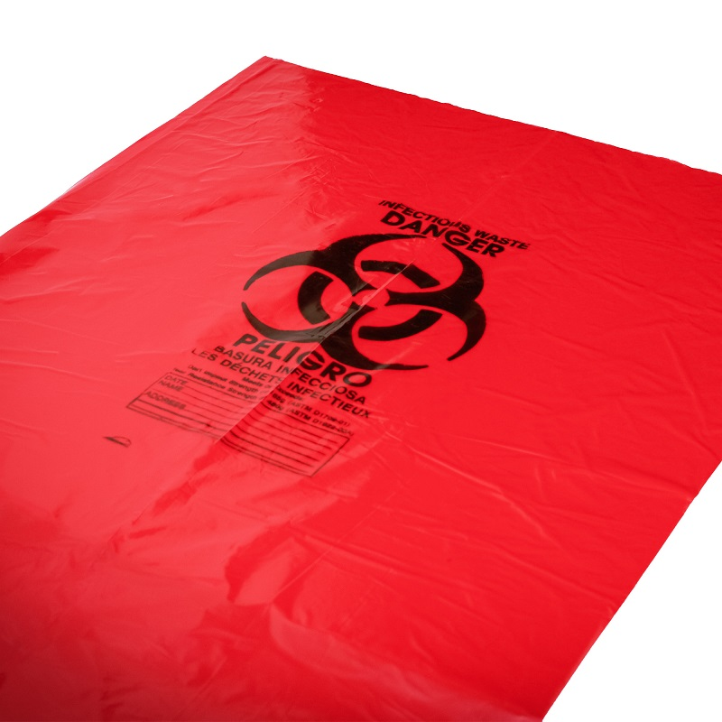 44 Gallon 37 x 50 Red Biohazard Bags 1.2 mil Case:100
