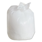 31-33 Gallon White Trash Bags 33x39 0.7 Mil 150 Bags