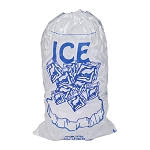 10 lb Ice Bags with Drawstring 11  x 19 x 1.4 mil Case:500