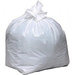 20-30 Gallon White Trash Bags 30x36 0.8 Mil 200 Bags