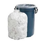 40-45 Gallon White Trash Bags 40x46 0.9 Mil 100 Bags