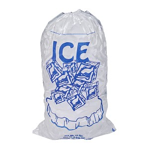 10 lb Ice Bags with Drawstring 11  x 19 x 1.4 mil Sub Pack Case:100