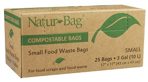 3 Gallon Compostable Trash Bags 0.65 Mil, 16