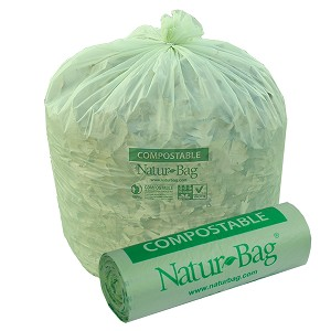 55 Gallon Compostable Trash Bags 0.8 Mil, 42
