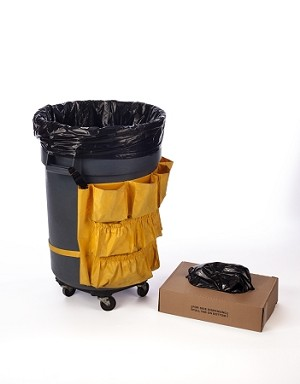 55-60 Gallon Black Trash Bags 38x58 3 Mil 50 Bags