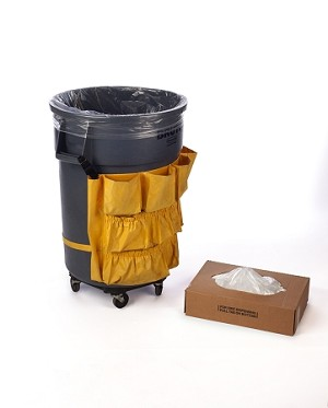 40-45 Gallon VALUE Clear Trash Bags 40x48 16 Micron 250 Bags